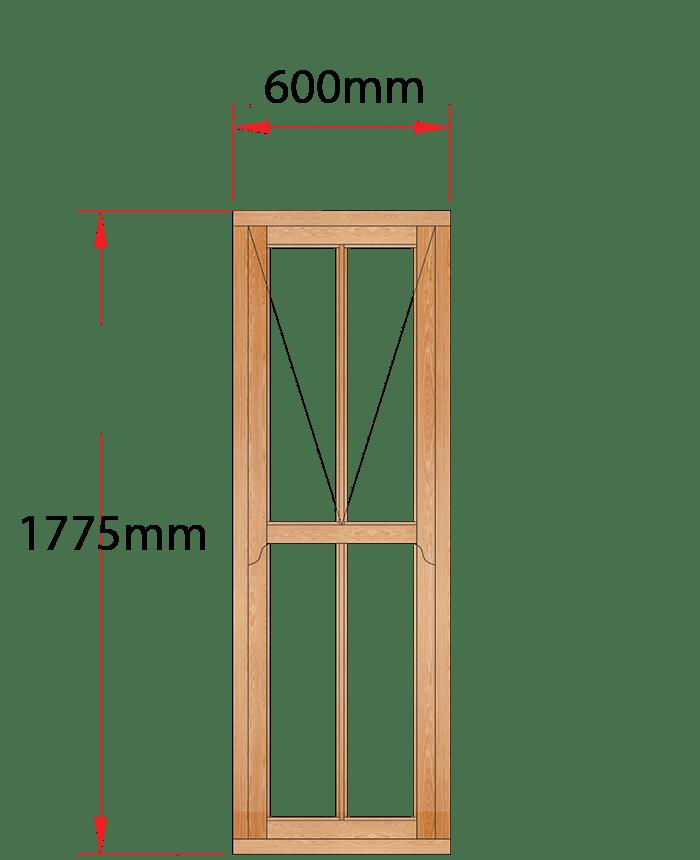 Van Acht Wood Windows Mock Sash Victorian Model HMS7V