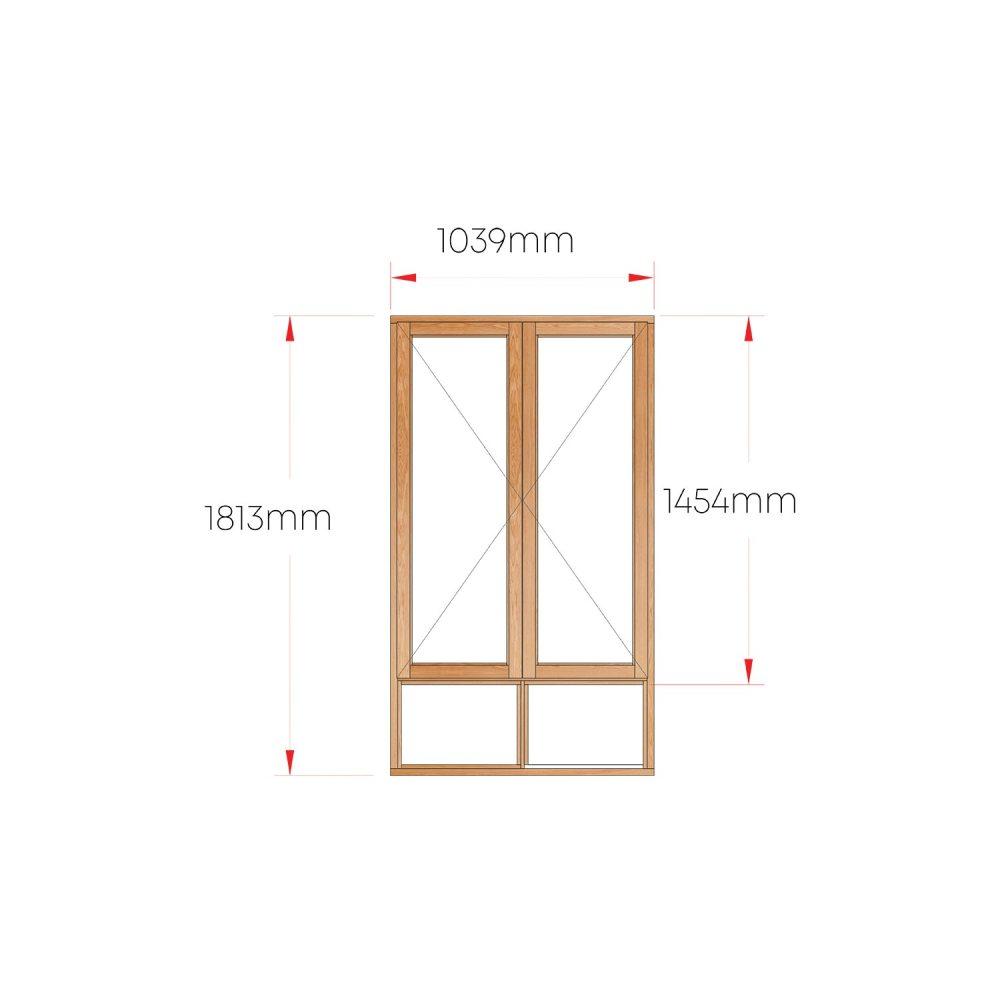 Van Acht Wood Windows Side Hung Full Pane MA22S
