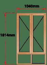 Van Acht Wood Windows Side Hung Full Pane Model MA22S