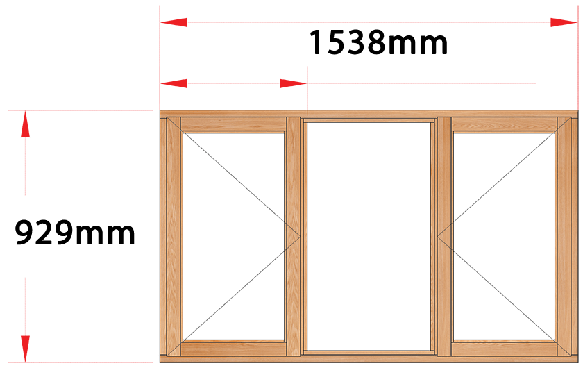 Van Acht Wood Windows Side Hung Full Pane Model MC3