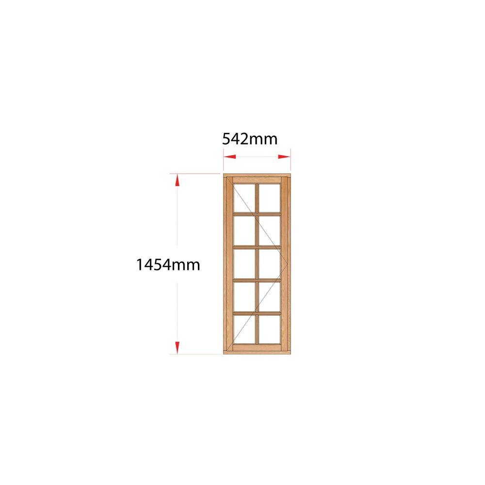 Van Acht Wood Windows Side Hung Small Pane MA1SP LH