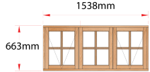 Van Acht Wood Windows Side Hung Small Pane Model MD3SP