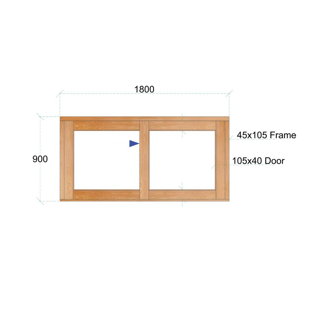 Van Acht Wood Windows Sliding Windows Product VSW189L
