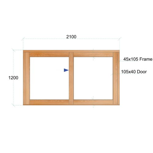 Van Acht Wood Windows Sliding Windows Product VSW2112L