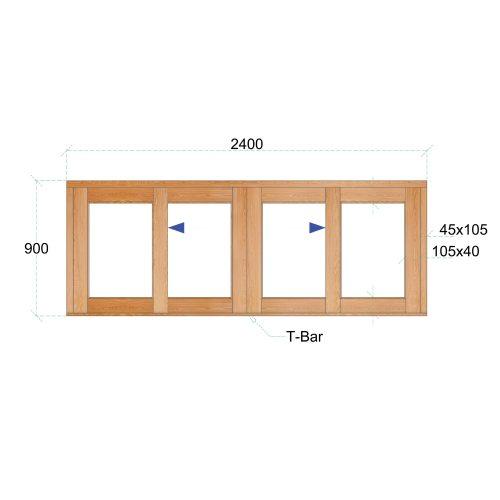 Van Acht Wood Windows Sliding Windows Product VSW249 DS
