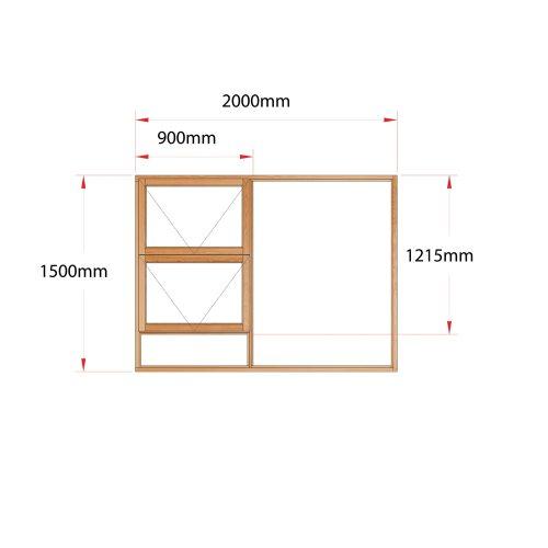 Van Acht Wood Windows Top Hung Product MH20 LH