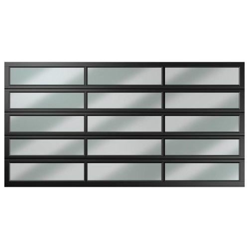 double 15 panel polycarbonate charcoal caravan