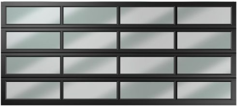 double 16 panel polycarbonate charcoal
