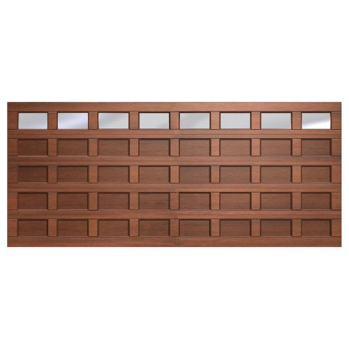 Van Acht Marine Ply Garage Door double 40 panel glass top