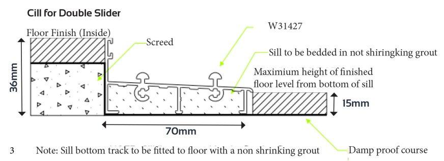 Van Acht Aluminium Sliding Doors Patio Range Cill Double Slider