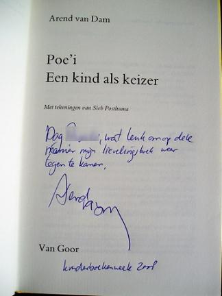Dag, wat leuk om op deze manier mijn lievelingsboek weer tegen te komen, Arend van Dam, Kinderboekenweek 2008