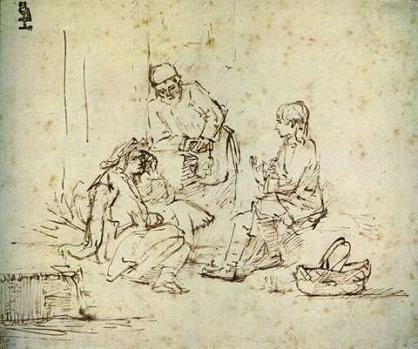 Rembrandt, Jozef legt de dromen van de bakker en de schenker uit, ca. 1650 -1652