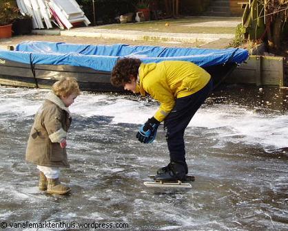 Philip en To op het ijs