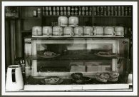 """VPL 88687 """"Coffee cups and pie cooler in cafe"""". Nina Raginsky. 1972."""