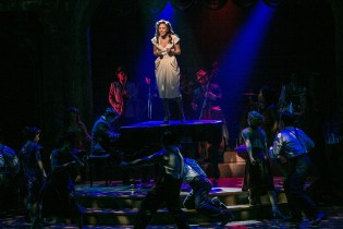 """Laura Osnes and the company of """"The Bandstand"""" in the Paper Mill Playhouse production of """"The Bandstand."""" (PHOTO: Jerry Dalia)"""