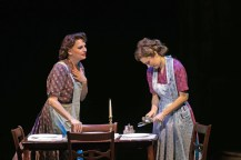 """Beth Leavel (left) plays Mrs. Adams, Laura Osnes mother in the Paper Mill Playhouse production of """"The Bandstand."""" (PHOTO: Jerry Dalia)"""