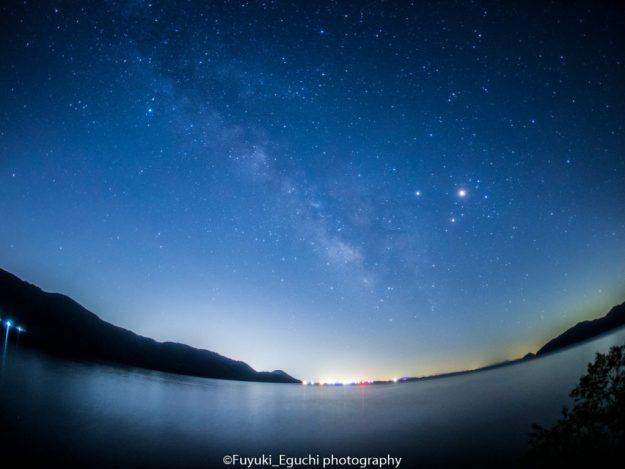北琵琶湖からの天の川 (Canon EOS6D + SIGMA 15mm F2.8 EX FISHEYE)