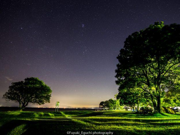 六ツ矢崎浜オートキャンプ場からの星空 (Canon EOS6D + TAMRON SP 15-30mm F2.8)