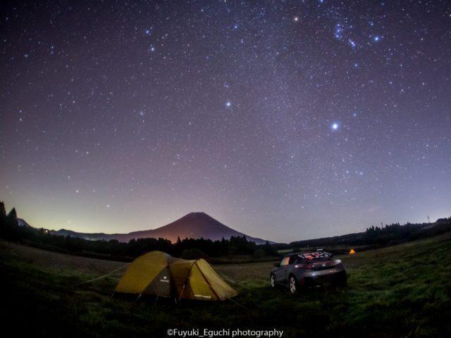 ふもとっぱらオートキャンプ場の星空 (Canon EOS6D + SIGMA 15mm F2.8 EX FISHEYE)