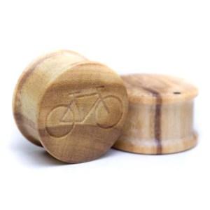 Holz Plug Fahrrad Olivenholz – van branch – Paar