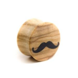 Holz Plug Schnurrbart Olivenholz – van branch – Front