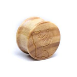 Holz Plug Bär Olivenholz – van branch – Front