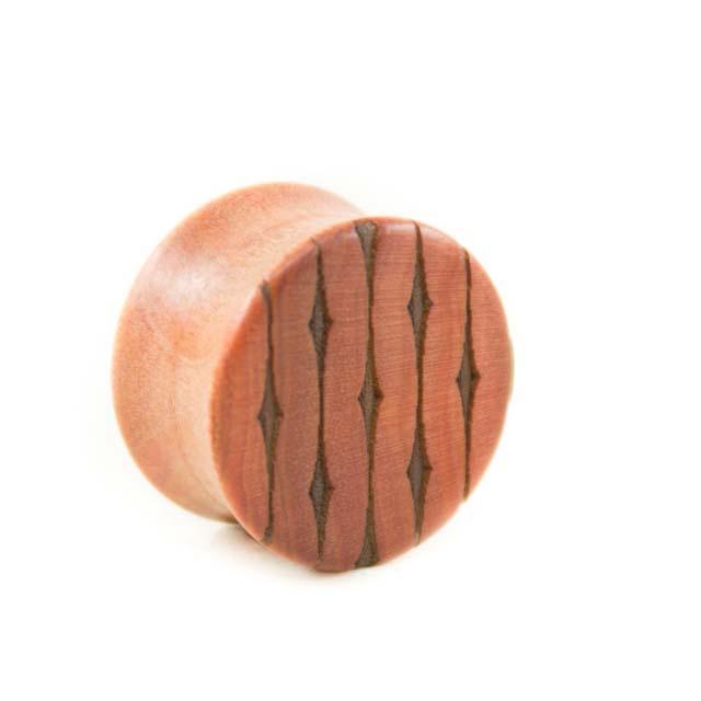 Holz Plug Bernauer Straße Pink Ivory - van branch - Muster groß