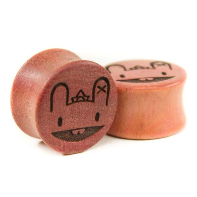 Holz Plug Wunschmotiv Pink Ivory - van branch - Beispielbild 2