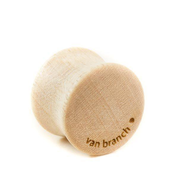 Holz Plug Wunschmotiv Ahorn - van branch - Rückansicht