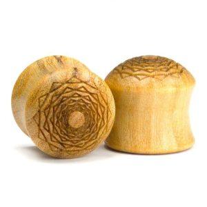 Holz Plug Kreuzberger Rose Olivenholz – van branch – Paaransicht