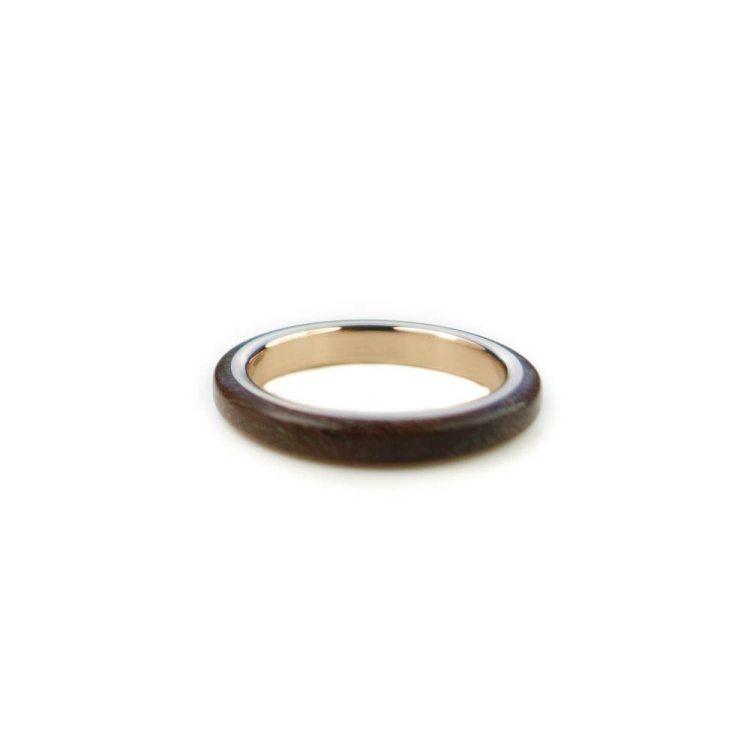 Holzring Eichborndamm Dein Ring |van branch - Beispiel - Kastanie/ Rotgold