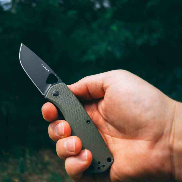 THE JAMES BRAND THE FOLSOM Taschenmesser OD Green + Black