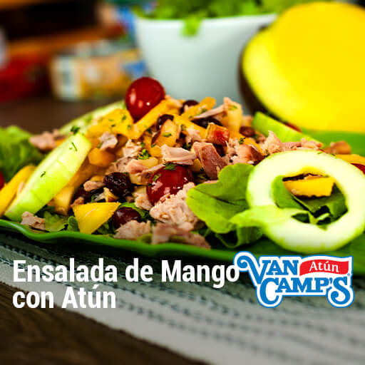 como hacer ensalada de mango con atun