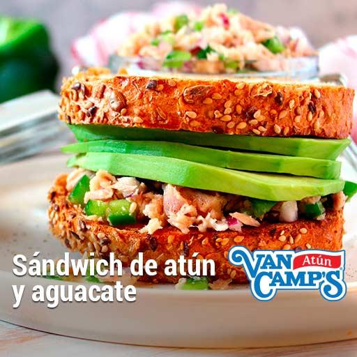 como preparar sandwich de atun y aguacate