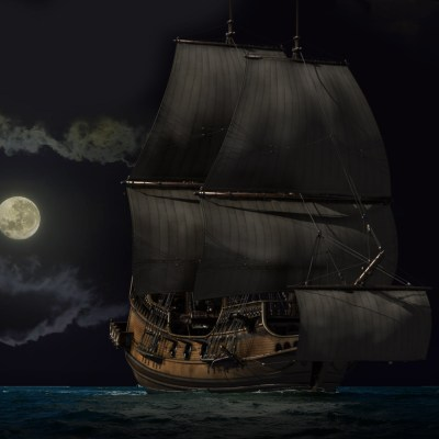 Schiff bei Mondschein