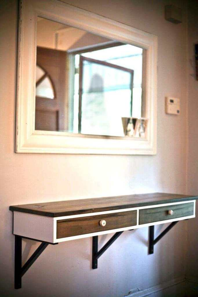 Midtown Mod Wooden Entry Table