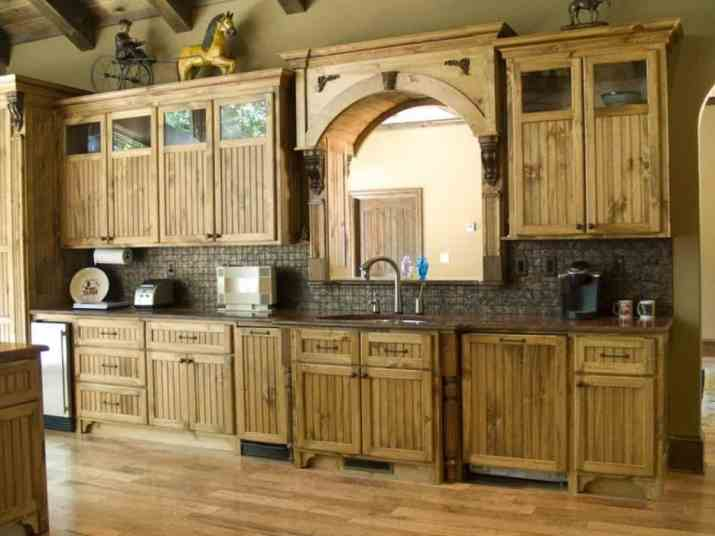 rustic painted kitchen cabinets
