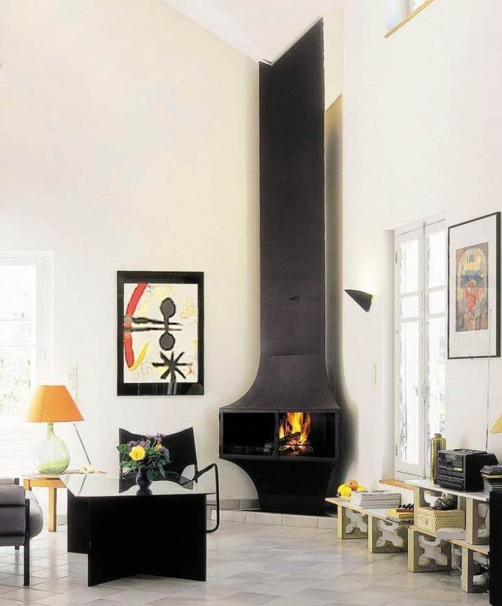 awkward living room layout with corner fireplace