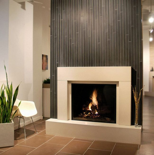 corner natural gas fireplace