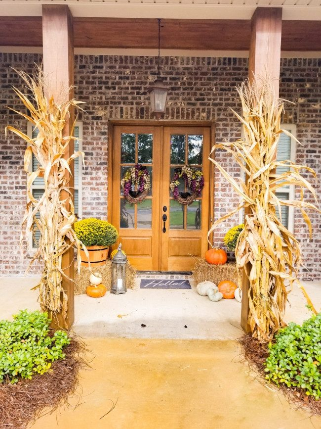 fall porch decor images