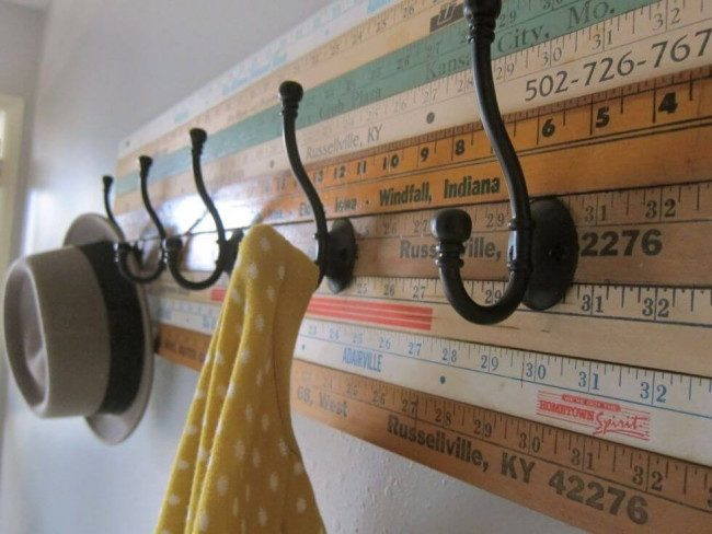 hat rack ideas with mirror