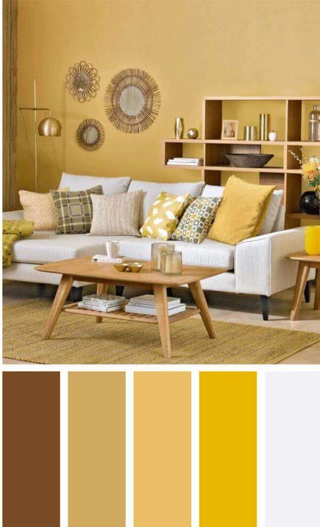 burnt orange living room color schemes