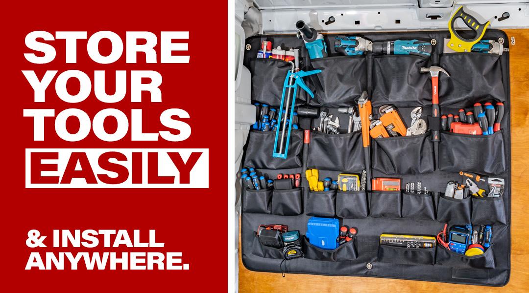 store tools easily van comrade banner