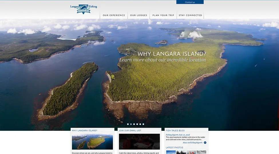 Aerial photography and Resort photography for Langara Fishing Adventures, Langara Island, Haida Gwaii, BC, Canada