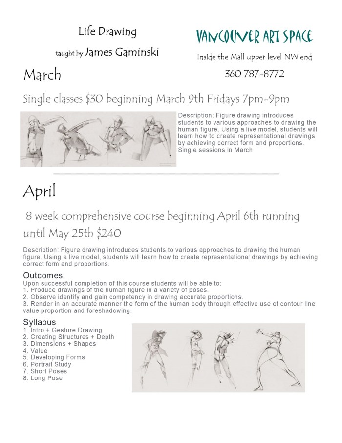 life drawing flyer