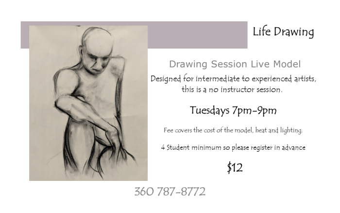 costume life drawing half card 2 flyer
