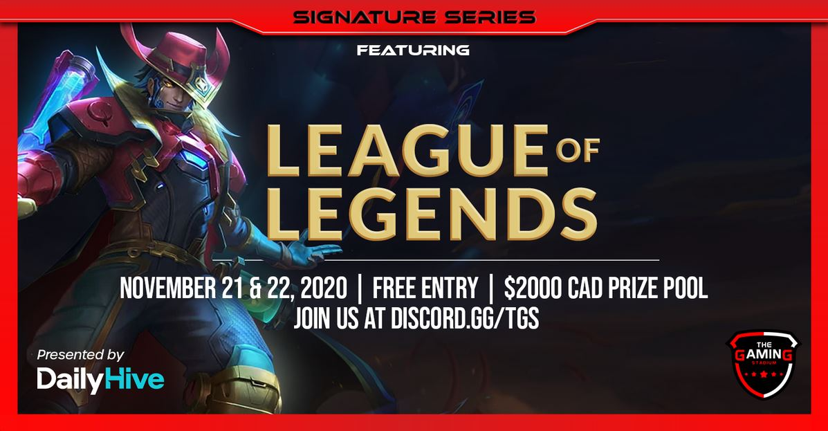 League of Legends tournament dailyhive tgs