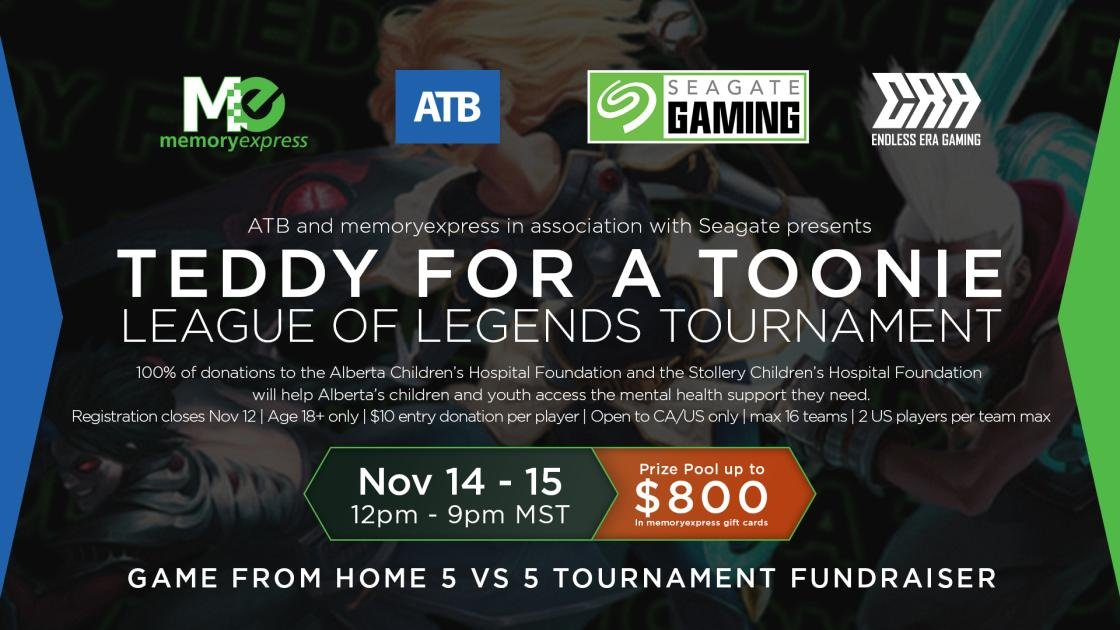 Teddy for a Toonie League of Legends tournament