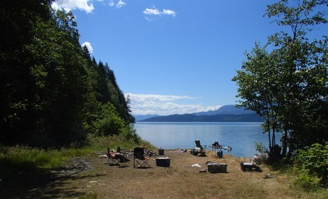 Camping at Harrison Lake over the weekend