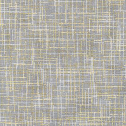 Robert Kaufman Quilter's Linen Metallic in Ash